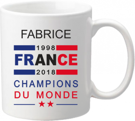 Mug A Coupe du Monde de Football 2018 - Cadeau personnalise personnalisable - 1