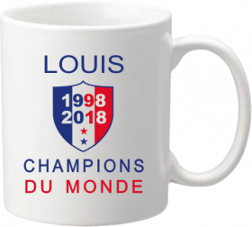 Mug B Coupe du Monde de Football 2018 - Cadeau personnalise personnalisable - 1