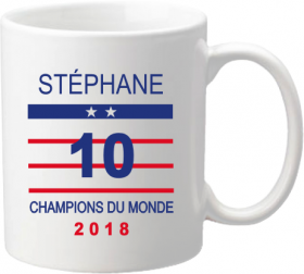 Mug C Coupe du Monde de Football 2018 - Cadeau personnalise personnalisable - 1