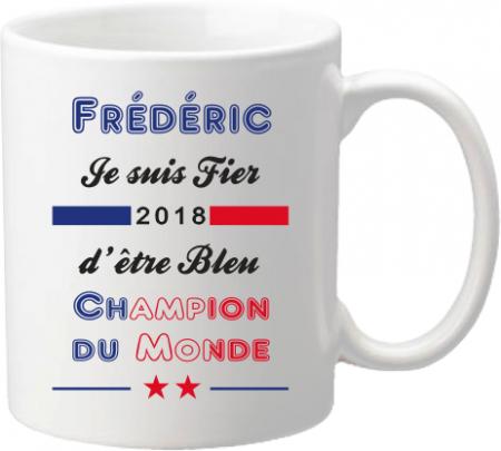 Mug D Coupe du Monde de Football 2018 - Cadeau personnalise personnalisable - 1