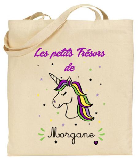 Tote Bag Licorne - Mod. 12 - Cadeau personnalise personnalisable - 1