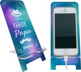 Support Téléphone - Fan de Papa - Mod.3 - Cadeau personnalise personnalisable - 1
