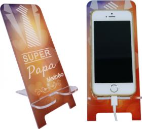 Support Téléphone Super Papa - Mod.8 - Cadeau personnalise personnalisable - 1
