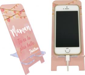 Support Téléphone Maman Tu es la plus belle - Mod.9 - Cadeau personnalise personnalisable - 1