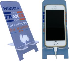 Support Téléphone Coupe du Monde - Mod.11 - Cadeau personnalise personnalisable - 1