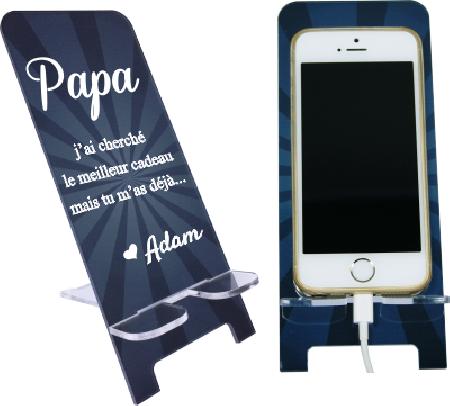 Support Téléphone Papa - Mod.17 - Cadeau personnalise personnalisable - 1