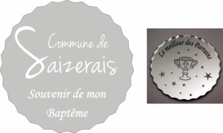 Dessous de Verre PERSONNALISÉS - Mairie - Cadeau personnalise personnalisable - 1