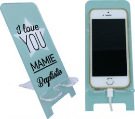 Support Téléphone - I Love You Mamie - Mod.1 - Cadeau personnalise personnalisable - 1