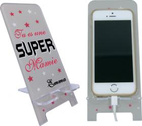 Support Téléphone Tu es une Super Mamie - Mod.14 - Cadeau personnalise personnalisable - 1