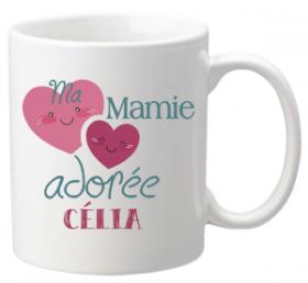 .Mug Kawaii Mamie Adorée Mod.65 - Cadeau personnalise personnalisable - 1