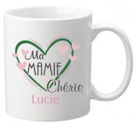 .Mug Ma Mamie Chérie Mod.68 - Cadeau personnalise personnalisable - 1
