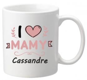 .Mug I love Mamy Mod.64 - Cadeau personnalise personnalisable - 1
