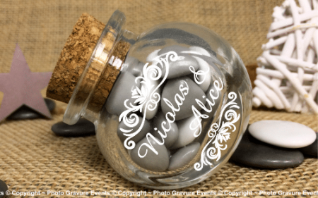 Bonbonnière mod.10 - Boite à dragées - Cadeau personnalise personnalisable - 1
