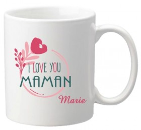 Mug I love you Maman (ref.66) - Cadeau personnalise personnalisable - 1