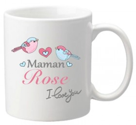 Mug Maman I love you (ref.71) - Cadeau personnalise personnalisable - 1