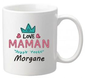 Mug Love Maman (ref.72) - Cadeau personnalise personnalisable - 1