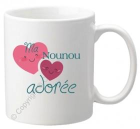 ..Mug Ma Nounou adorée Mod.65 - Cadeau personnalise personnalisable - 1