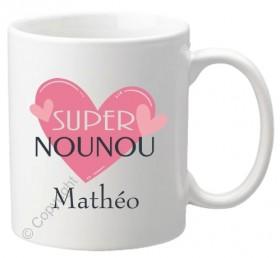 .Mug Super Nounou Mod.67 - Cadeau personnalise personnalisable - 1