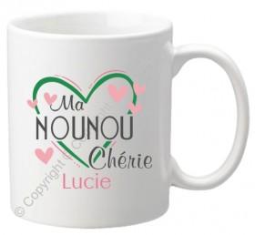Mug Ma Nounou Chérie Mod.68 - Cadeau personnalise personnalisable - 1