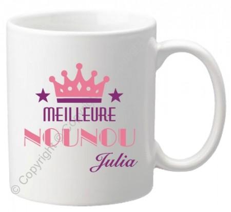 .Mug Meilleure Nounou Mod.70 - Cadeau personnalise personnalisable - 1