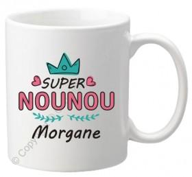. Mug Super Nounou Mod.72 - Cadeau personnalise personnalisable - 1