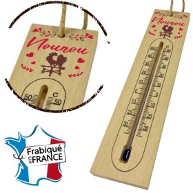 Thermomètre en Bois pour Nounou Mod.1 - Cadeau personnalise personnalisable - 1