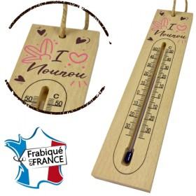 Thermomètre en Bois pour Nounou Mod.11 - Cadeau personnalise personnalisable - 1