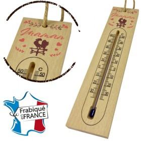 Thermomètre en Bois pour Maman Mod.1 - Cadeau personnalise personnalisable - 1