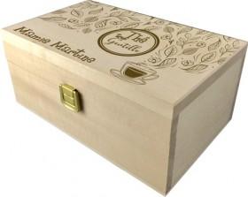 . Coffret à Thé gravée (mod1) - Cadeau personnalise personnalisable - 1