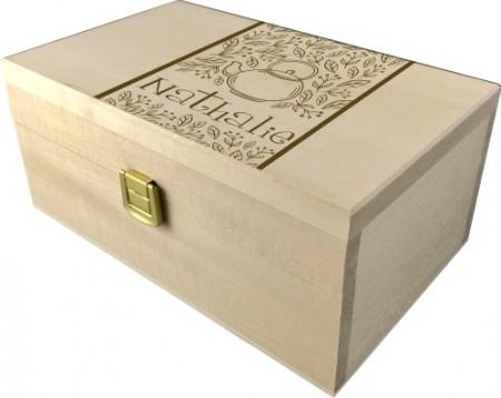 . Coffret à Thé gravée (mod2) - Cadeau personnalise personnalisable - 1