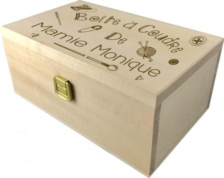 . Coffret à Coudre gravée (mod3) - Cadeau personnalise personnalisable - 1