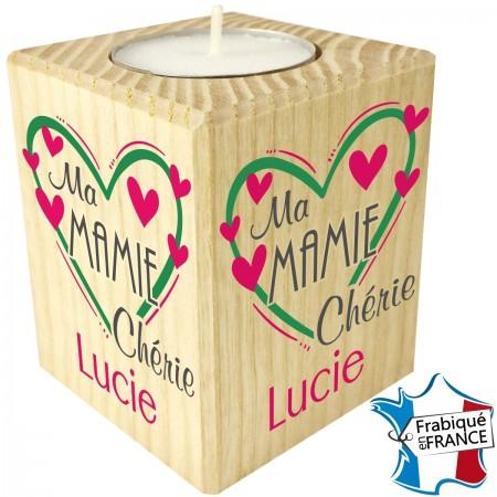 Porte Bougie Ma Mamie Chérie (mod9) - Cadeau personnalise personnalisable - 1