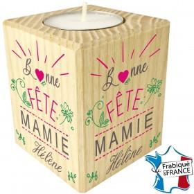 Bonne Fête Mamie - Bougie personnalisée