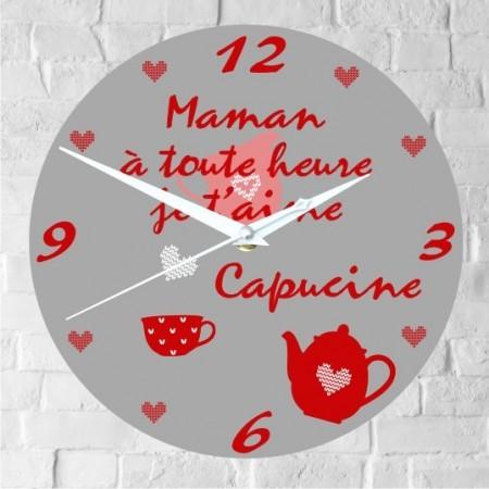 Horloge Maman Personnalisée - H.E - Cadeau personnalise personnalisable - 1