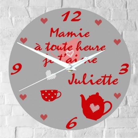 Horloge Mamie Personnalisée modE - Cadeau personnalise personnalisable - 1