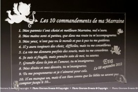 Modification Commandements - Parrain Marraine - Cadeau personnalise personnalisable - 1