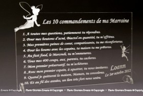Modification Commandements - Parrain Marraine - Cadeau personnalise personnalisable - 2