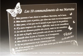 Modification Commandements - Parrain Marraine - Cadeau personnalise personnalisable - 3