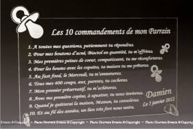 Modification Commandements - Parrain Marraine - Cadeau personnalise personnalisable - 4