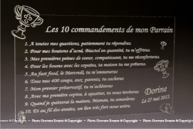 Modification Commandements - Parrain Marraine - Cadeau personnalise personnalisable - 5