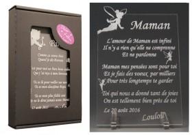Poème Maman - Mod. Fée - Cadeau personnalise personnalisable - 1