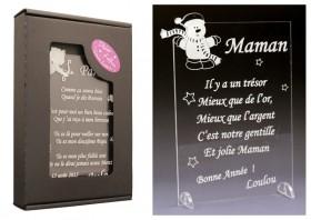 Poème Maman - Mod. Bonhomme de Neige - Cadeau personnalise personnalisable - 1