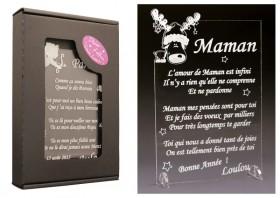 Poème Maman - Mod. Cerf - Cadeau personnalise personnalisable - 1