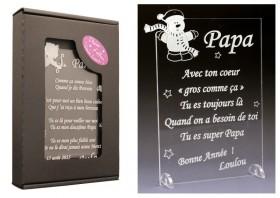 Poème Papa - Mod. Bonhomme de Neige Gravure Events - Cadeau personnalisé - 1