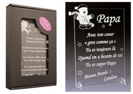 Poème Papa - Mod. Bonhomme de Neige - Cadeau personnalise personnalisable - 1