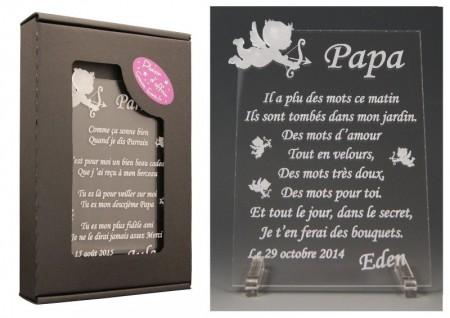 Poème Papa - Mod. Ange - Cadeau personnalise personnalisable - 1