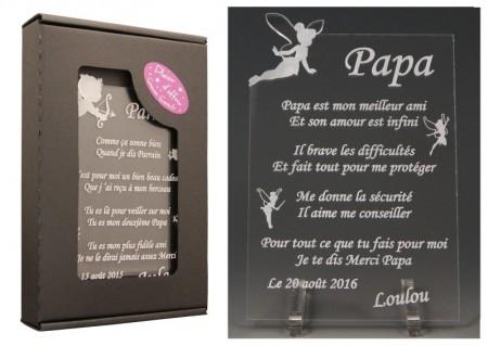 Poème Papa - Mod. Fée - Cadeau personnalise personnalisable - 1