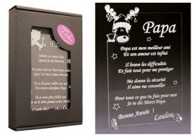Poème Papa - Mod. Cerf - Cadeau personnalise personnalisable - 1