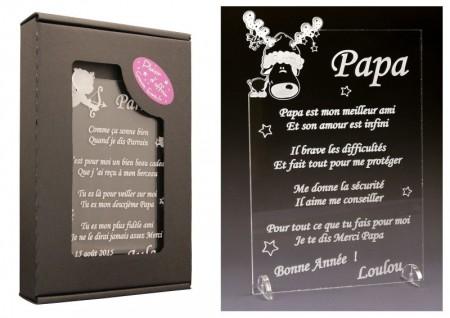 Poème Papa - Mod. Cerf Gravure Events - Cadeau personnalisé - 1