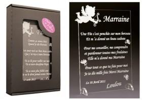 Poème Marraine - Mod. Ange Gravure Events - Cadeau personnalisé - 1